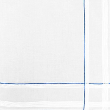 Sangallo - striped handkerchiefs with Hand rolled hem light blue detail