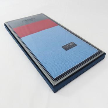 Scozia - fazzoletti fantasia micro-quadretti con bordo bicolor - scatola laterale