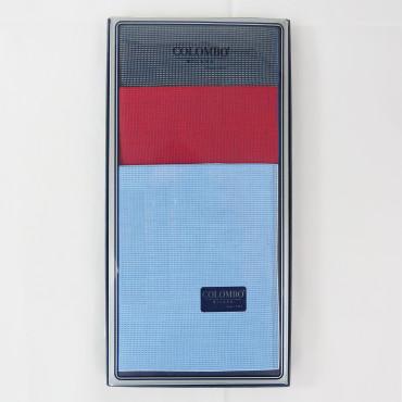 Scozia - fazzoletti fantasia micro-quadretti con bordo bicolor - scatola frontale