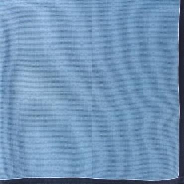 Scozia - fazzoletti fantasia micro-quadretti con bordo bicolor - azzurro