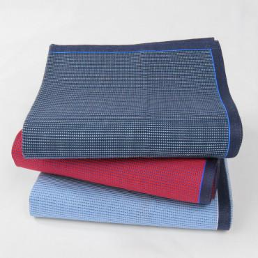 Scozia - fazzoletti a micro-quadretti con bordo bicolor varianti