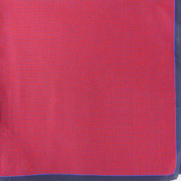 Scozia - fazzoletti fantasia micro-quadretti con bordo bicolor - rosso