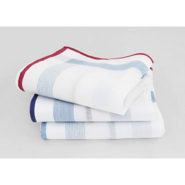 Parigi rigato - handkerchiefs with colored border and rolled hem