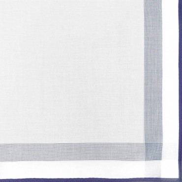 Parigi rigato - handkerchiefs with colored border and rolled hem side box navy detail
