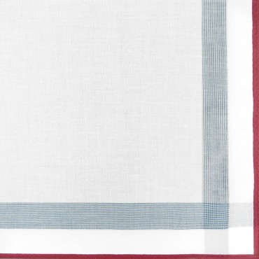Parigi rigato - handkerchiefs with colored border and rolled hem side box maroon detail