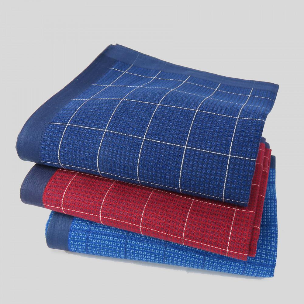 Scozia - fazzoletti a quadretti e bordo in raso blu