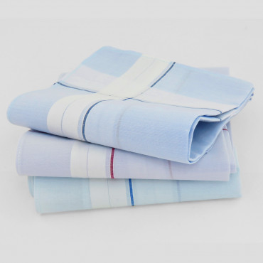 Versailles - handkerchiefs with double stripe and pastel ground