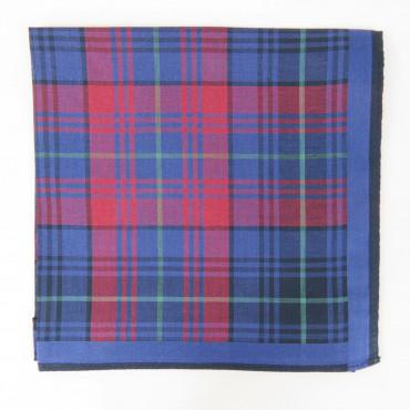 Edward- Fazzoletto da taschino scozzese blu