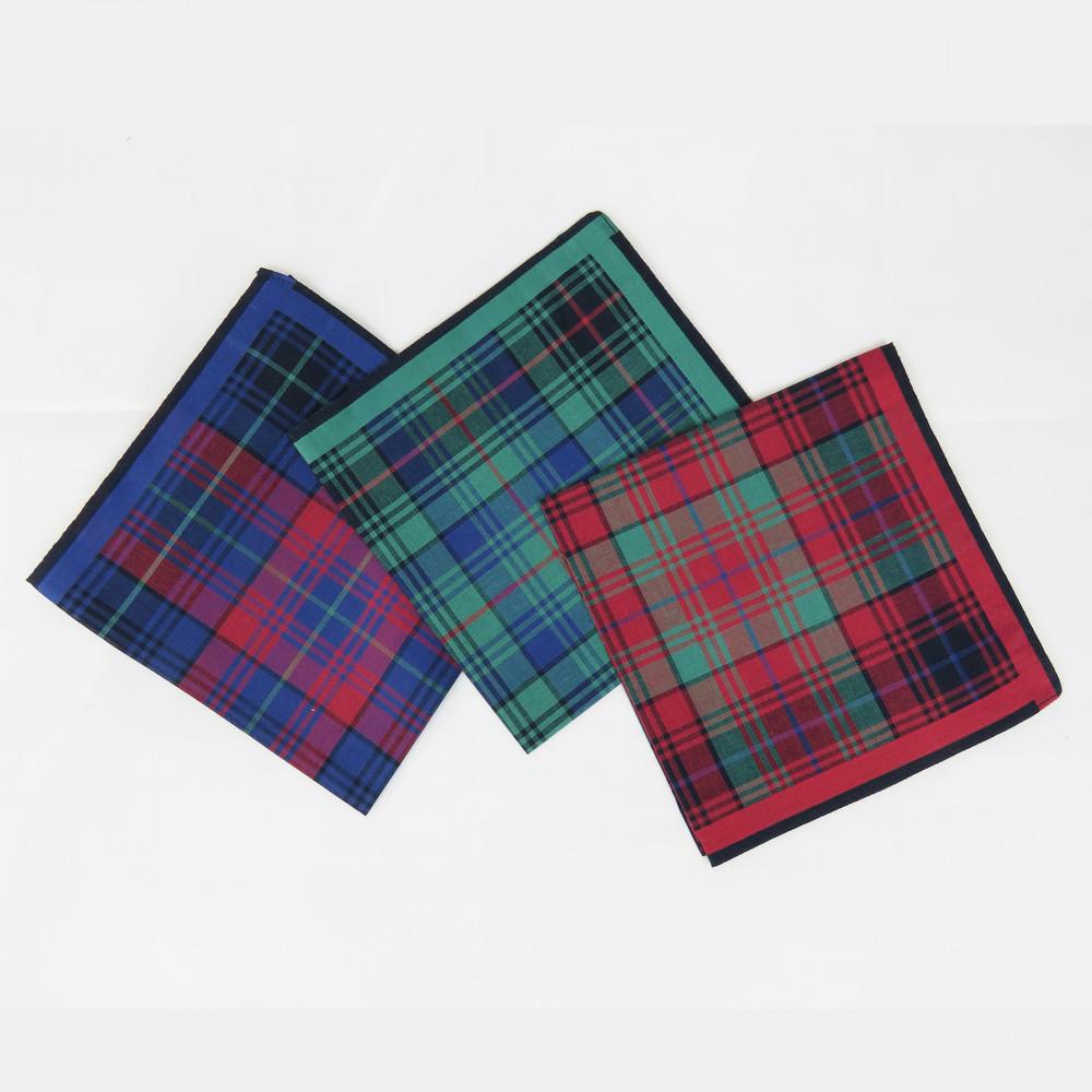 Edward- Fazzoletto da taschino scozzese tre varianti colore