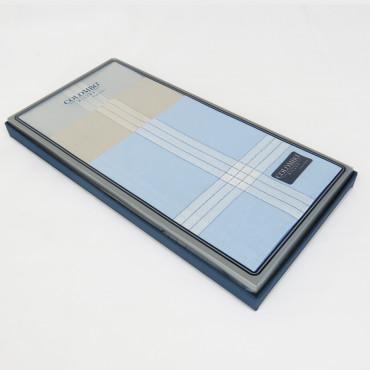 Versailles colorato - pastel handkerchiefs with jacquard satin stripes side box
