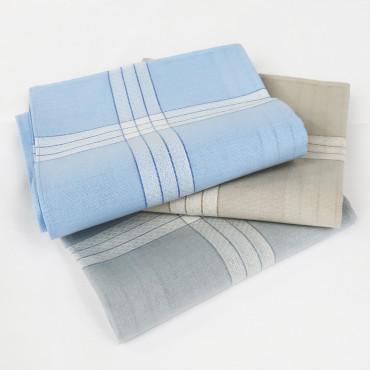 Versailles colorato - pastel handkerchiefs with jacquard satin stripes