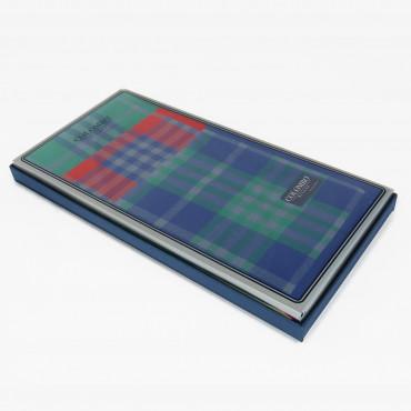 Scozia - fazzoletti tartan scatola laterale