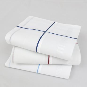 Versailles rigato - fazzoletti con righe di raso fini bianche e colorate