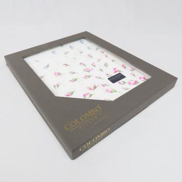 Grazia dozzina- 12 fazzoletti con pioggia di fiorellini scatola laterale