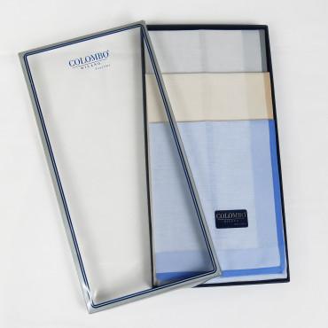 Versailles colorato - pastel handkerchiefs with colored satin border box