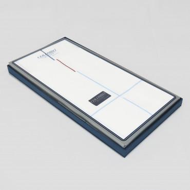 Versailles rigato- handkerchiefs with thin satin stripes side box