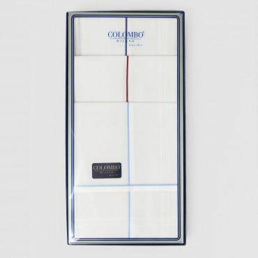Versailles rigato - fazzoletti con righe di raso fini bianche e colorate scatola