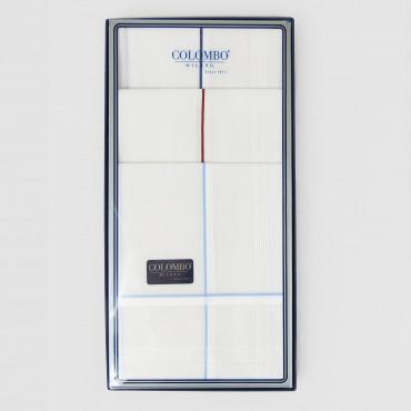 Versailles rigato- handkerchiefs with thin satin stripes box