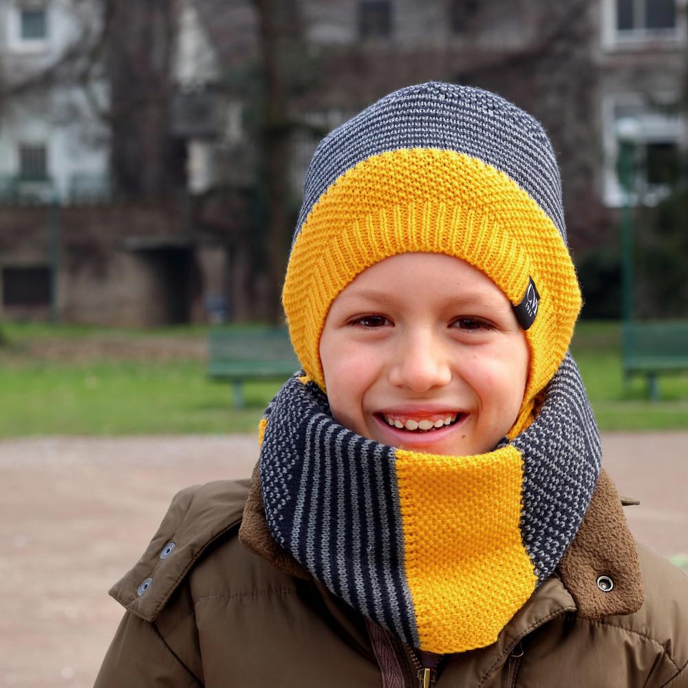 Cappello e sciarpa bimbo patchwork - 6/11a modello