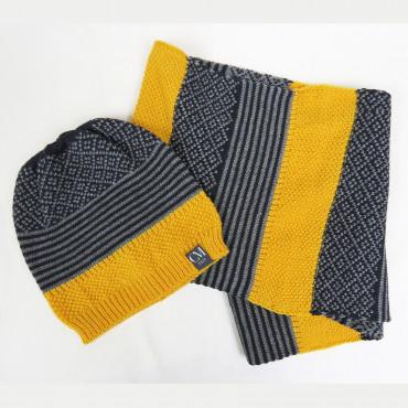Cappello e sciarpa bimbo patchwork - 6/11a