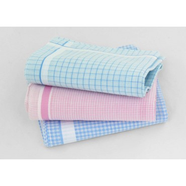 Designs - Roby - checked handkerchiefs in pastel colors
