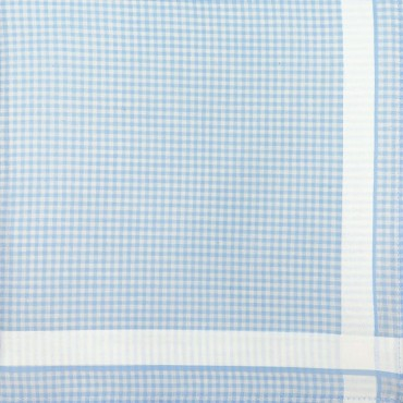 Blue colorway - Roby - checked handkerchiefs in pastel colors
