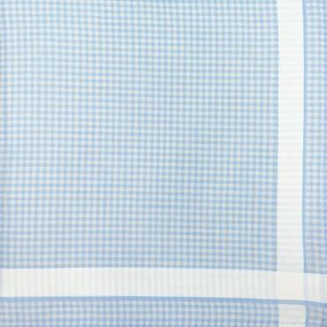 Variante blu - Roby - fazzoletto di cotone a quadretti blu pastello