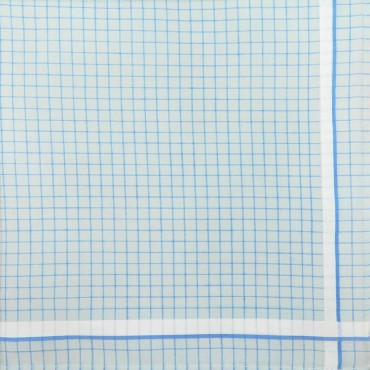 Light Blue colorway - Roby - checked handkerchiefs in pastel colors