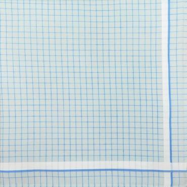 Variante azzurra  - Roby - fazzoletto di cotone a quadretti azzurro pastello