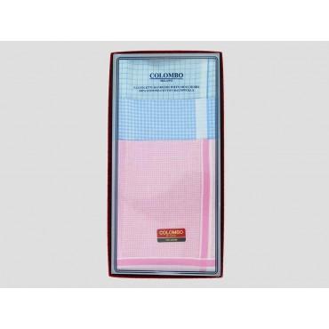 Scatola frontale - Roby - fazzoletti di cotone a quadretti in colori pastello