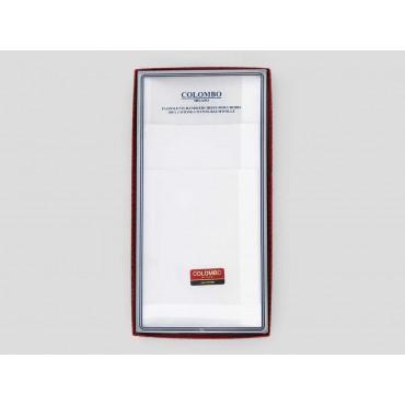 Scatola frontale - Perla - fazzoletti di cotone bianchi con righe di raso