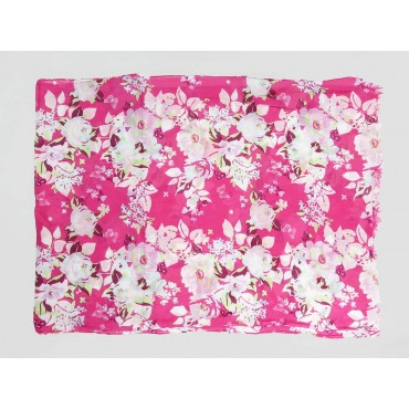 Pink floral scarf - 100% cotton open