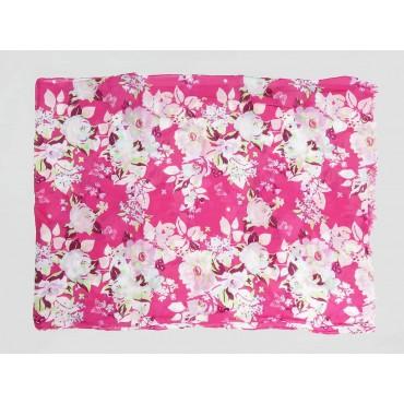 Piegata - Sciarpe primaverili estive - sciarpa foulard di cotone floreale rosa