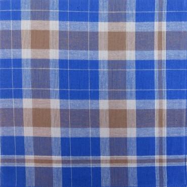 Variante blu e marrone - Dark - fazzoletto di cotone da uomo scuro