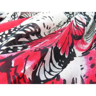 Dettaglio - Sciarpe primaverili estive - sciarpa pareo di cotone con stampa di farfalle