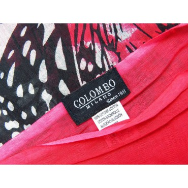 Etichetta - Sciarpe primaverili estive - sciarpa pareo di cotone con stampa di farfalle