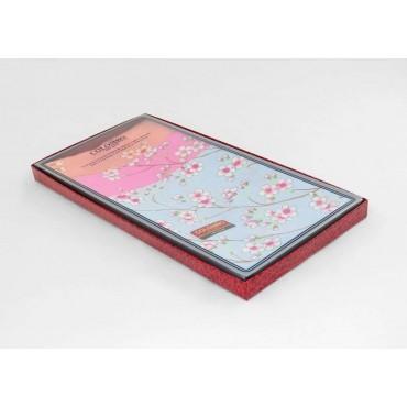 side box - Giulia - colored handkerchiefs with peach blossom prints