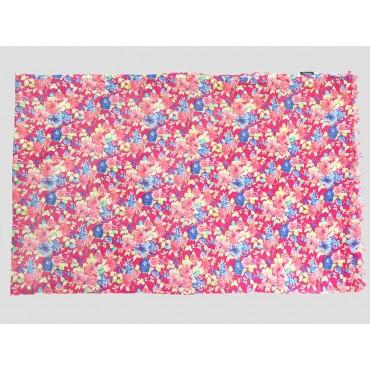 Piegata - Sciarpe primaverili estive - sciarpa pareo di cotone fucsia floreale
