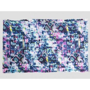 Piegata - Sciarpe primaverili estive - sciarpa pareo di cotone colorata con stampa astratta