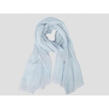 Modello - Sciarpe primaverili estive - sciarpa pareo di cotone celeste polvere