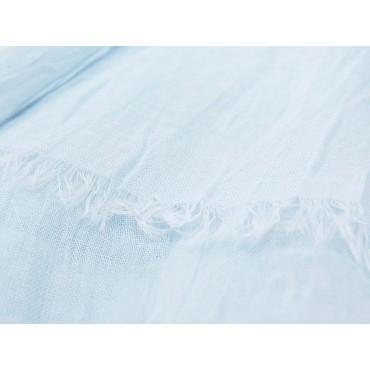Dettaglio - Sciarpe primaverili estive - sciarpa pareo di cotone celeste polvere