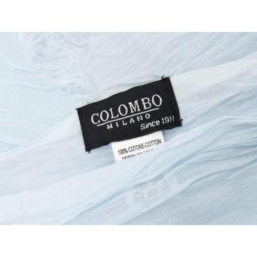 Etichetta - Sciarpe primaverili estive - sciarpa pareo di cotone celeste polvere