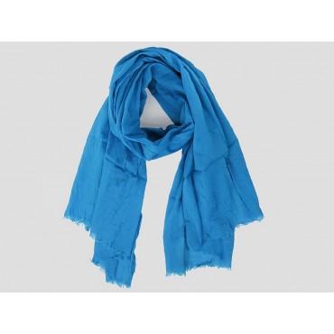 Modello - Sciarpe primaverili estive - sciarpa pareo di cotone blu royal