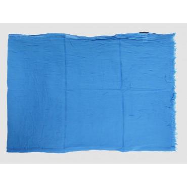 Piegata - Sciarpe primaverili estive - sciarpa pareo di cotone blu royal