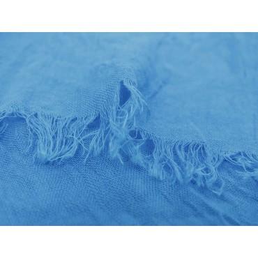 Dettaglio - Sciarpe primaverili estive - sciarpa pareo di cotone blu royal