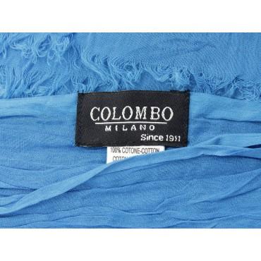 Etichetta - Sciarpe primaverili estive - sciarpa pareo di cotone blu royal
