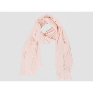 Modello - Sciarpe primaverili estive - sciarpa pareo di cotone rosa cipria
