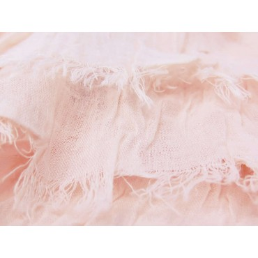 Dettaglio - Sciarpe primaverili estive - sciarpa pareo di cotone rosa cipria