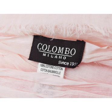 Etichetta - Sciarpe primaverili estive - sciarpa pareo di cotone rosa cipria