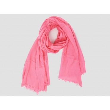 Modello - Sciarpe primaverili estive - sciarpa pareo di cotone rosa fragola